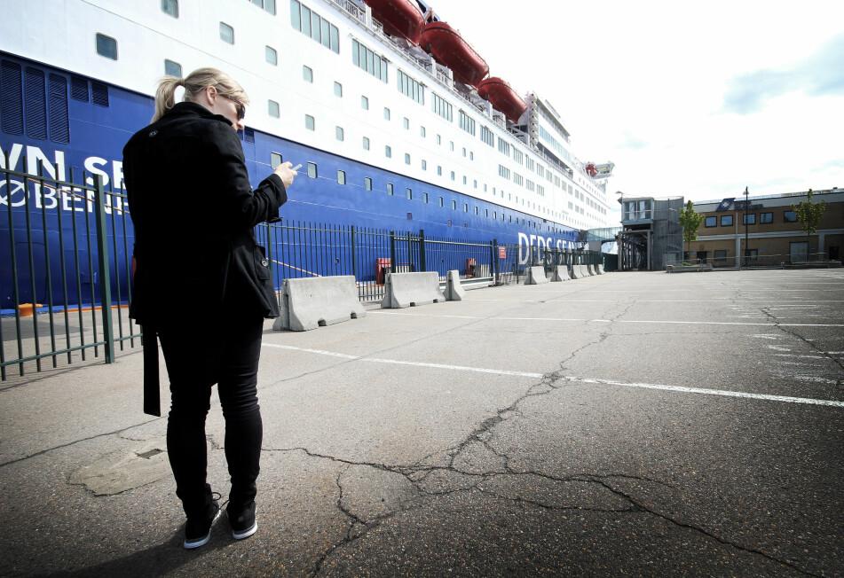 <strong>IKKE FRI ROAMING:</strong> Skru av roamingen før du går på danskebåten og andre ferger. For å roame til sjøs kan bli rådyrt. Foto: Ole Petter Baugerød Stokke