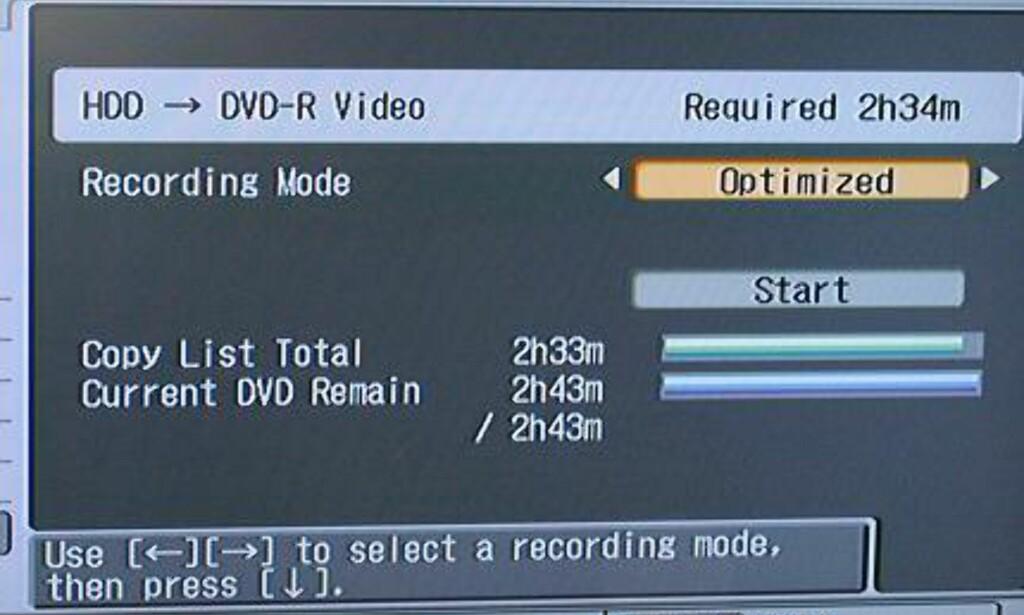 Hjemmekino: Kopiering fra HD til DVD i praksis - med store bilder - DinSide