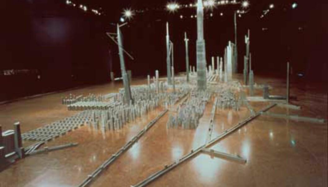 Wall City av Miguell Navarro er fra den permanente samlingen, og vises frem til mai i år. <br /> <I>Foto: Guggenheimmuseet</I>
