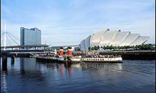 Scottish Exhibition & Conference Centre ligger ved Glasgow Science Centre ved elven Clyde, og har bidratt til å gi byen sitt fortjente rykte som arkitektursentrum. Foto: Greater Glasgow & Clyde Valley Tourist Board Foto: Greater Glasgow & Clyde Valley Tourist Board