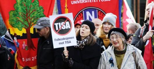 Det er en svært lite demokratisk sivilisasjon vi ser stige opp av TISA-avtalen