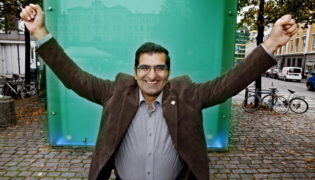 <strong>KLIMAKAMP:</strong> Shoaib Sultan kritiserer Frp og Aina Stenersen. Foto: Jacques Hvistendahl / Dagbladet