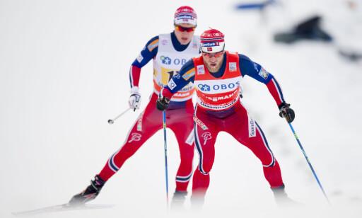 HAR ASTMA: Martin Johnsrud Sundby og Simen Andreas Sveen er to av Norges beste langrennsløpere i motbakker og har begeg astma. Foto: Jon Olav Nesvold / NTB scanpix
