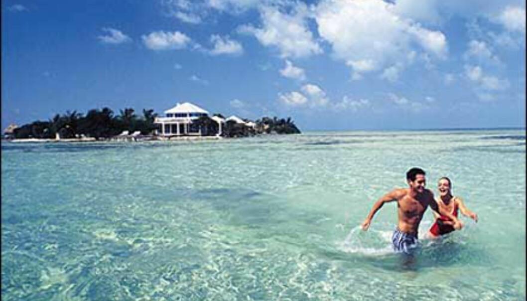 Belize for bading. <I>Foto: Cayo Espanto</I> Foto: Cayo Espanto