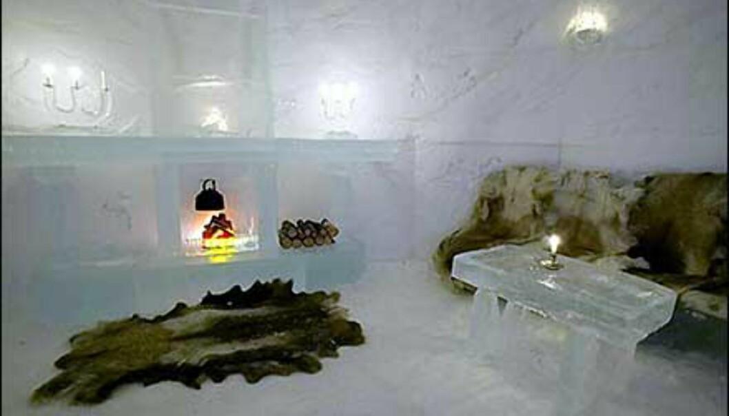 Deltakerne i 71 grader nord fikk overnatte på Alta Igloo Hotell i Alta Friluftspark. <I>Foto: Alta Igloo Hotell</I> Foto: Alta Igloo Hotell