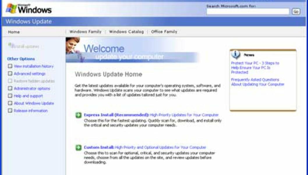 Windows update gir deg nå muligheten til å oppdatere Office-programmene dine fra samme nettside.