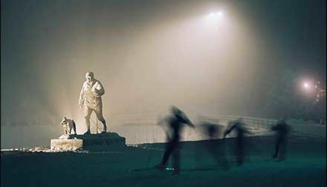 En vinterkveld i Holmenkollen stemningsfullt foreviget av Raymond Sollie, som vinner vår første ukepremie. Foto: Raymond Sollie