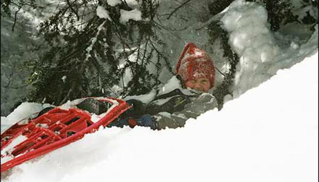Christophe Kristian Blomberg på trugetur i snøen. <I>Foto: Anita Blomberg</I> Foto: Anita Blomberg