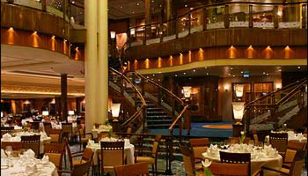 Den store spisesalen - minner mistenkelig om Titanic?