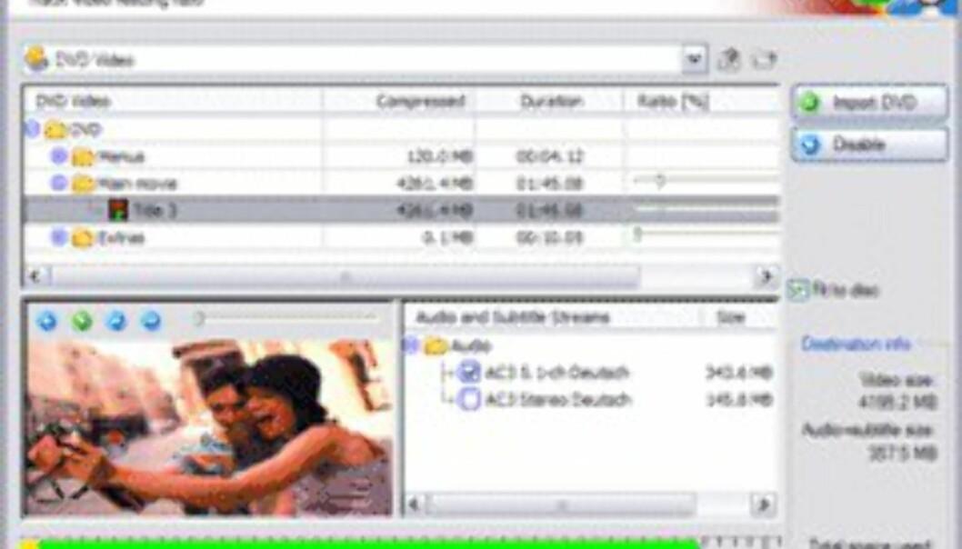 Nero Recode 2 lar deg kopiere hele eller deler av en DVD-film, enkelt og raskt.