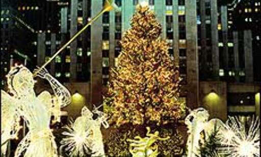"Julepyntet Rockefeller Center. Bilde:  "">Copyright Bart Barlow/NYC & Company, Inc. Foto: Copyright Bart Barlow/NYC & Company, Inc."