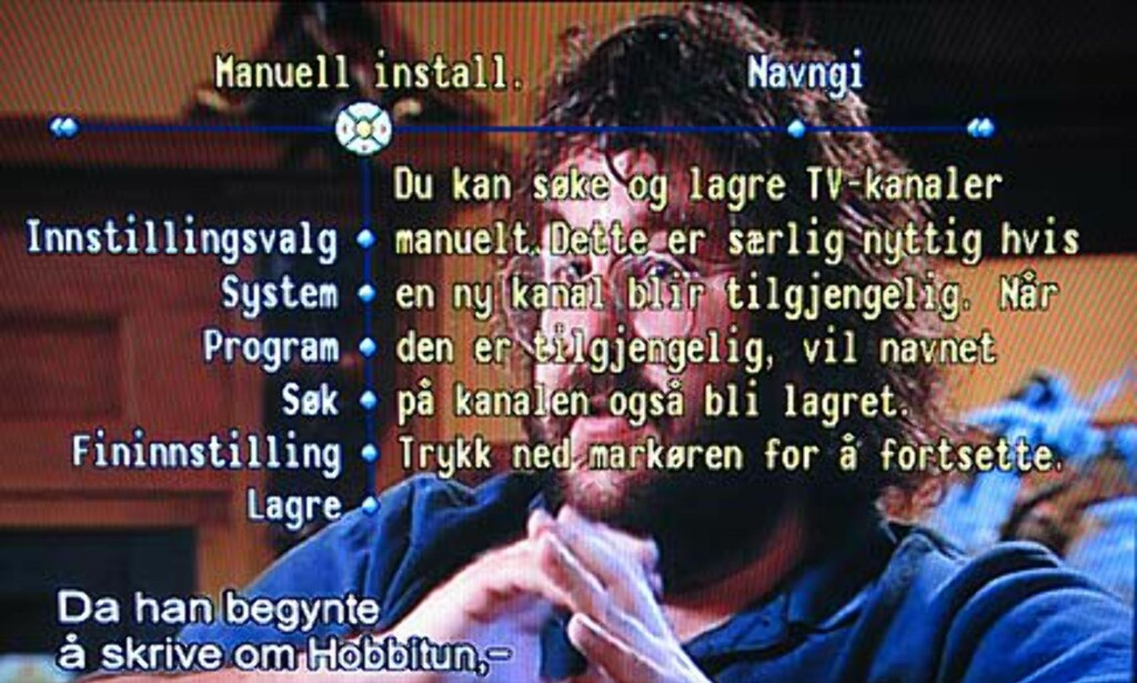 Manuell innstilling av kanalene