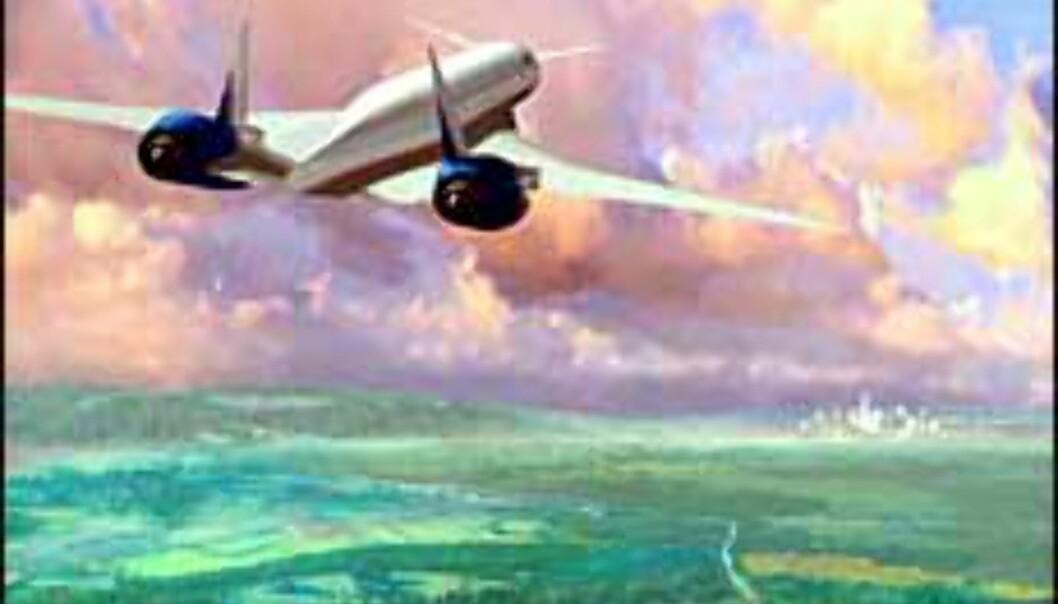 Boeings planlagte Sonic Cruiser ble skrinlagt i 1999. Foto: Boeing