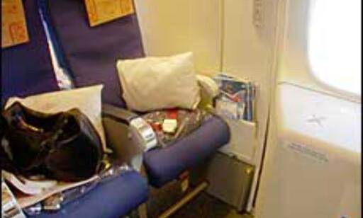 Best plass ved nødutgangen på mange fly.