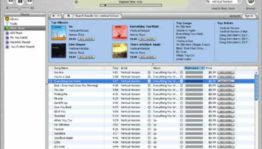 iTunes-programvaren egner seg også som alternativ til Windows Media Player.