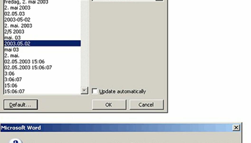 Hvordan endrer jeg datoformat?