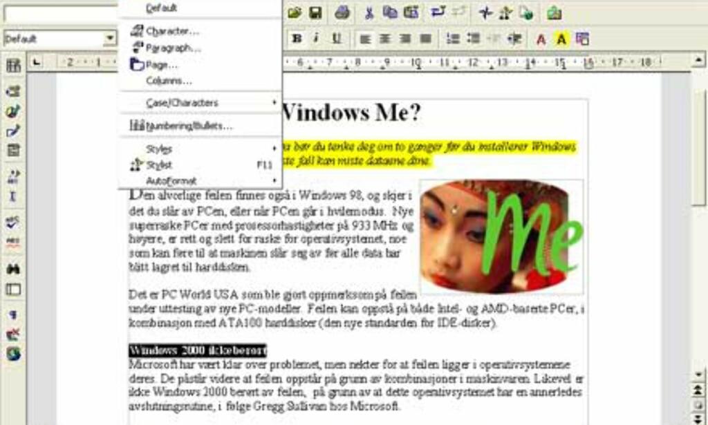 OpenOffice Writer er kompatibel med Microsoft Word.