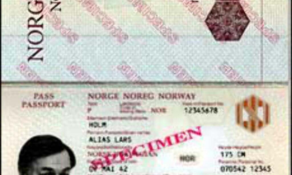 Eksempel på maskinlesbart pass.<br /> <I>Illustrasjon: Den amerikanske ambassaden</I> Foto: Den amerikanske ambassaden