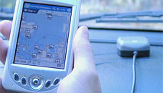 GPS-antennen i bakgrunnen