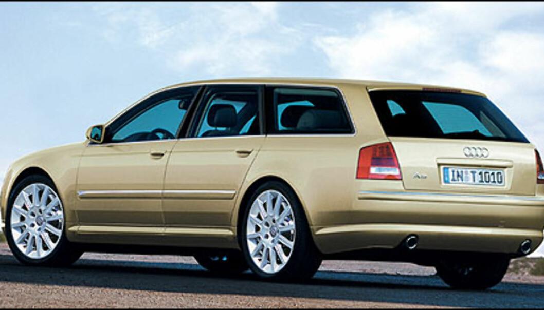 Audi A6 Avant (bildet er manipulert).