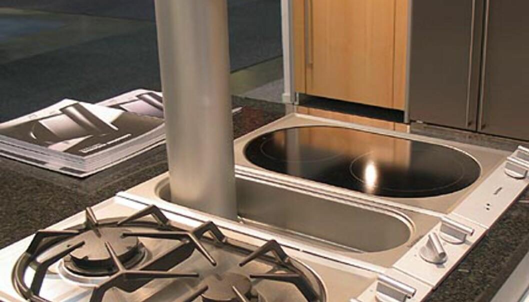 <strong>Gaggenau:</strong> Kan design. Ventilatoren er her oppe. Den suger forøvrig også fra sidene.