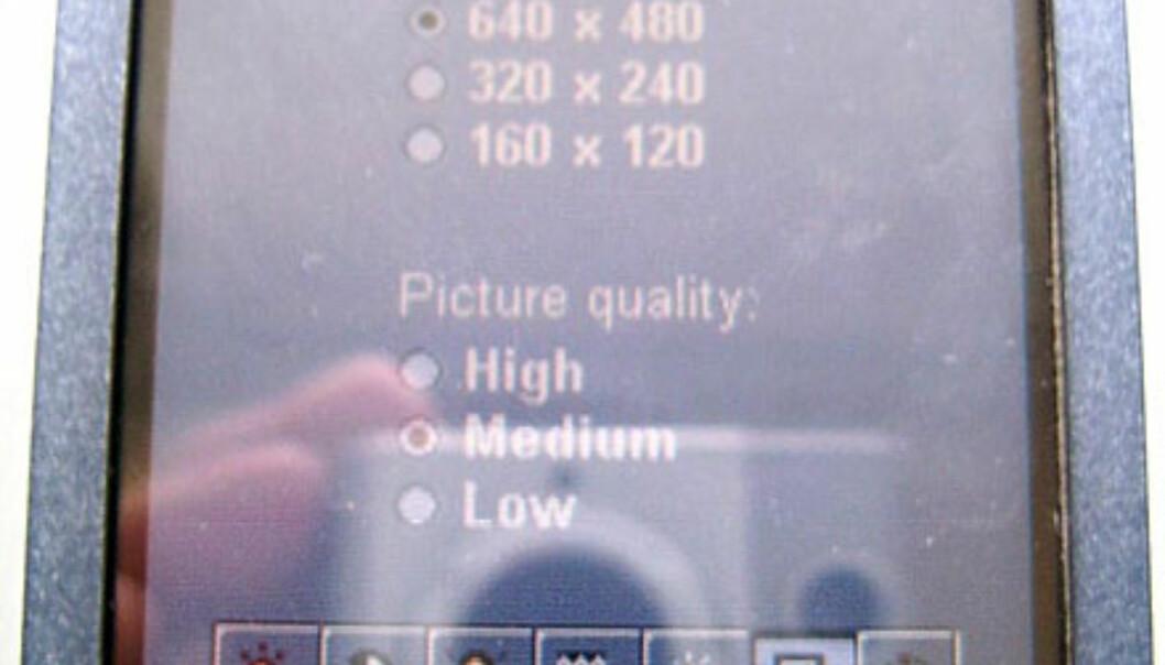 Brukergrensesnittet til P900