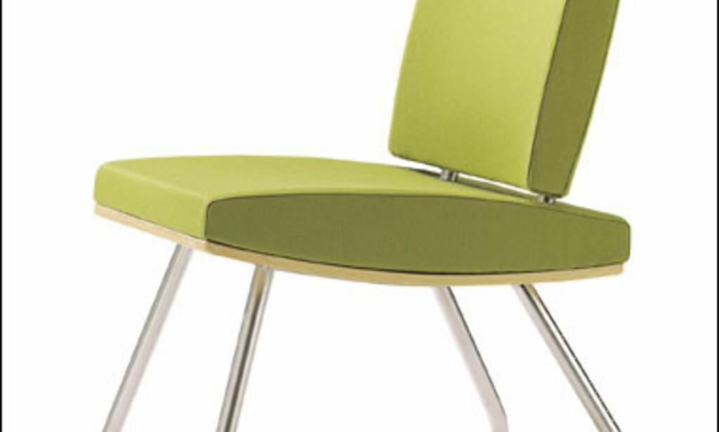 Burrell heter denne grønne stolen fra Cirkus Design. Den er en del av en serie med stoler og sofaer. En rekke forhandlere selger denne serien.  Foto: Foraform.com Foto: Foraform.com