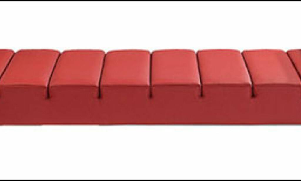 Ziggi heter denne liggeinnretningen laget av arkitekten Flemming Busk for Globe Furniture i Danmark. Berg Studio i Oslo er representant for det danske møbeldesignsenteret. Her koster den 24.100 kroner trukket i skinn.  Foto: Globefurniture.net Foto: Globefruniture.net