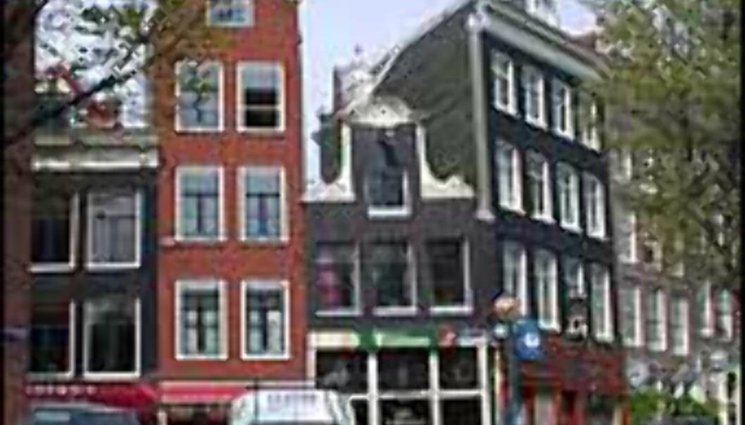 Smale hus er det mange av i byen.