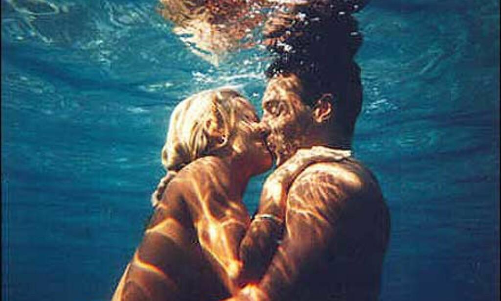 Elias Papanicolaou og Tonje Pettersen - undervannspar Foto: Elias Papanicolaou