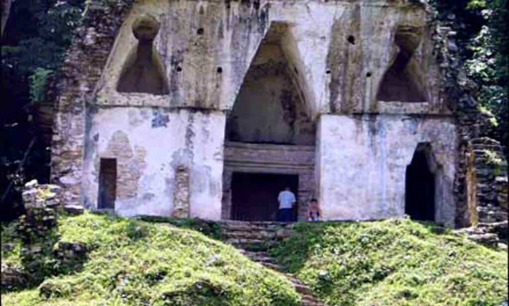 Ruiner i nydelig jungelsetting i Palenque Foto: Lene Heiberg