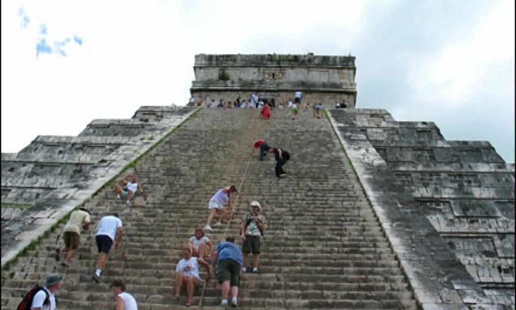 Og sååå stor er pyramiden egentlig! Foto: Lene Heiberg