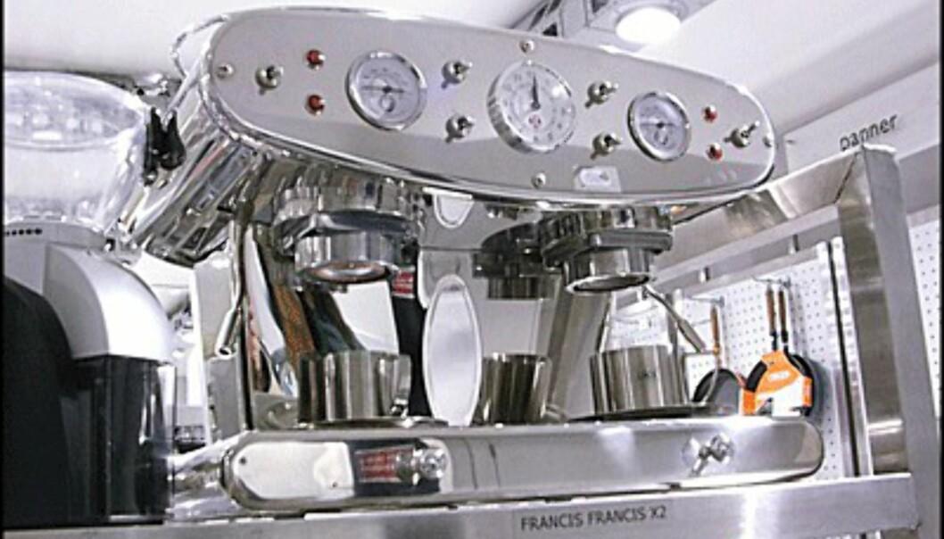 <center>Standsmessig dobbel maskin fra Francis Francis. Pris: 9.900 kroner.