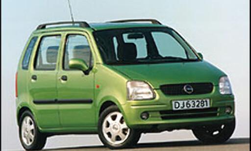 DÅRLIG UTVALG: Opel Agila er én av kun tre minibiler som for tiden markedsføres gjennom offisielle importører.