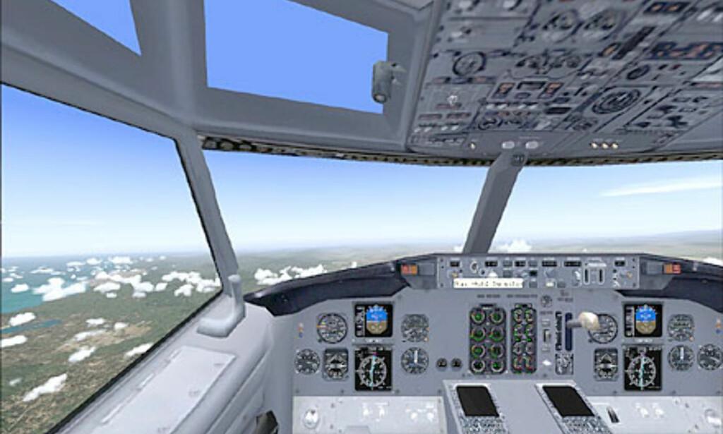 Den virtuelle cockpiten imponerer