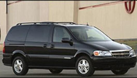 <strong>DYREST:</strong> Billigste utgave av Chevrolet Trans Sport koster 607.000 kroner.