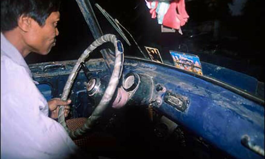 Skrapa taxi i Mandalay. Foto: Haakon F. Stenersen
