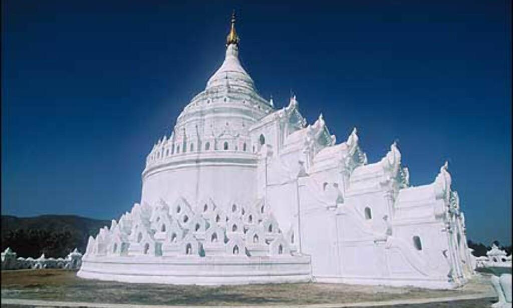 Tempelet Hsinbyume Paya i Mingun, noen kilometer fra Mandalay. Foto: Haakon F. Stenersen