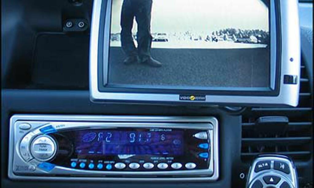 Demonstrasjonsbilen var også utstyrt med ryggekamera. Cube tilbyr flere ryggekamerapakker. Priser fra 5.100 kroner.