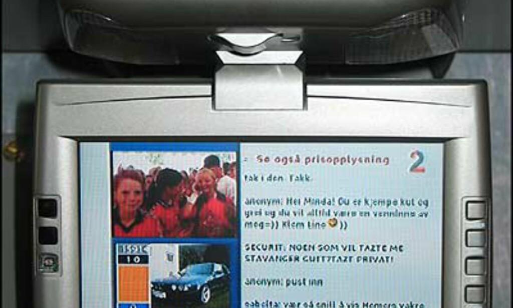 TV-signal - fungerer forøvrig dårlig under fart, er altså mest egnet når du står stille.