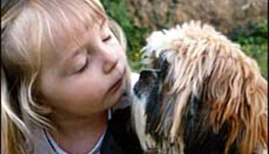 Vått kyss.<br /> <I>Foto: Nina Johnsen</I><br />  Foto: Nina Johnsen