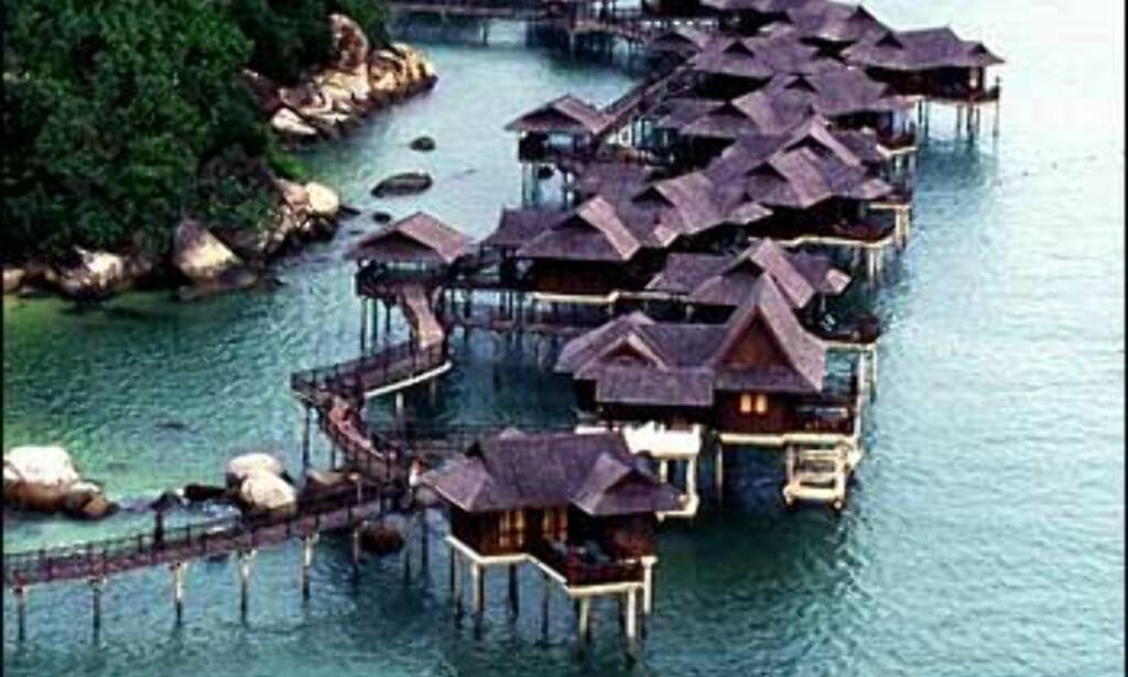 Pangkor Laut i Malaysia har 22 villaer på stylter. Foto: Pangkor Laut Foto: Pangkor Laut