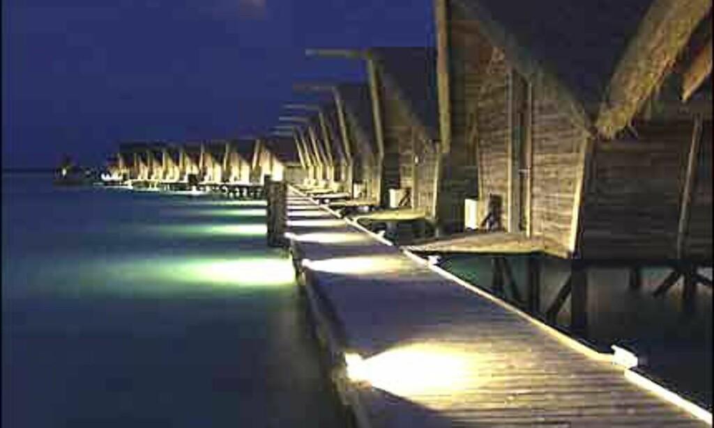 Som maldiviske husbåter på stylter i White Sands. Foto: White Sands Resort & Spa Foto: White Sands Resort & Spa