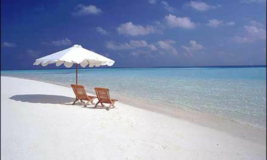 Strand på Sun Island - off season regner vi med. Foto: Villa Hotels Foto: Villa Hotels