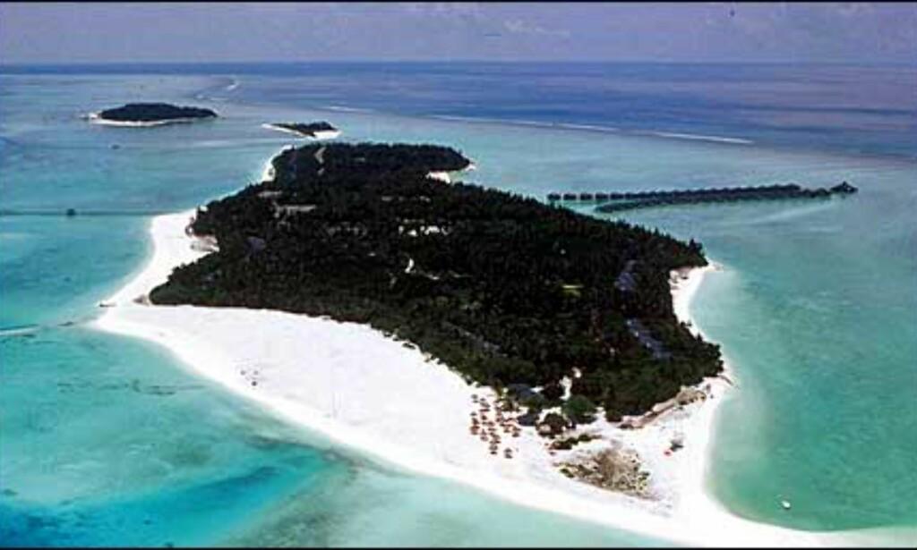 Sun Island eller South Ari Atoll fra oven. Foto: Villa Hotels Foto: Villa Hotels