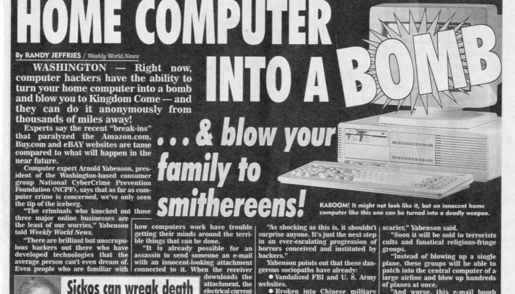 Se opp for bombevirus!