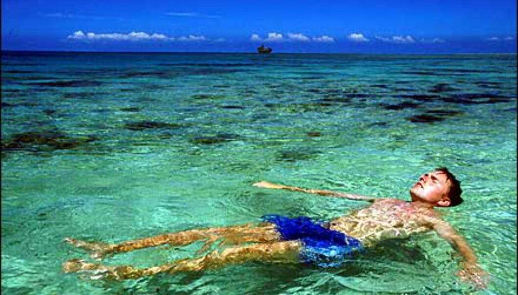 Flytende ferie på Fiji. <I>Foto: Kjersti Djupvik</I> Foto: Kjersti Djupvik