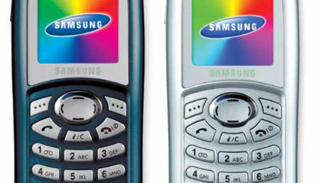 Telefonen kommer i flere farger, deriblant sølv og blå.