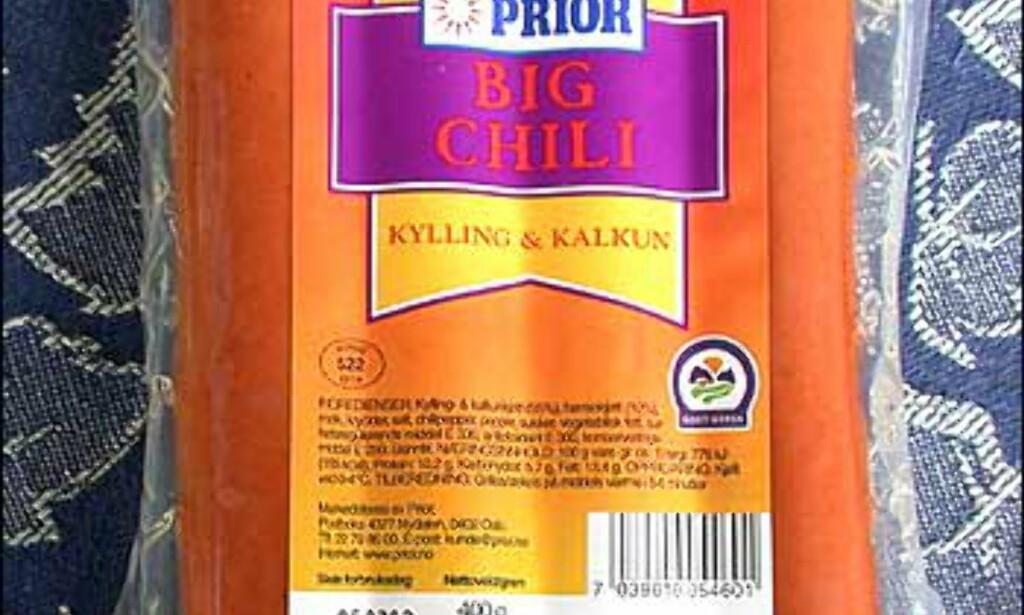 Priors Big Chili er frisk i fargen og tykk og fin, men smaken er for ubestemmelig og kjedelig.