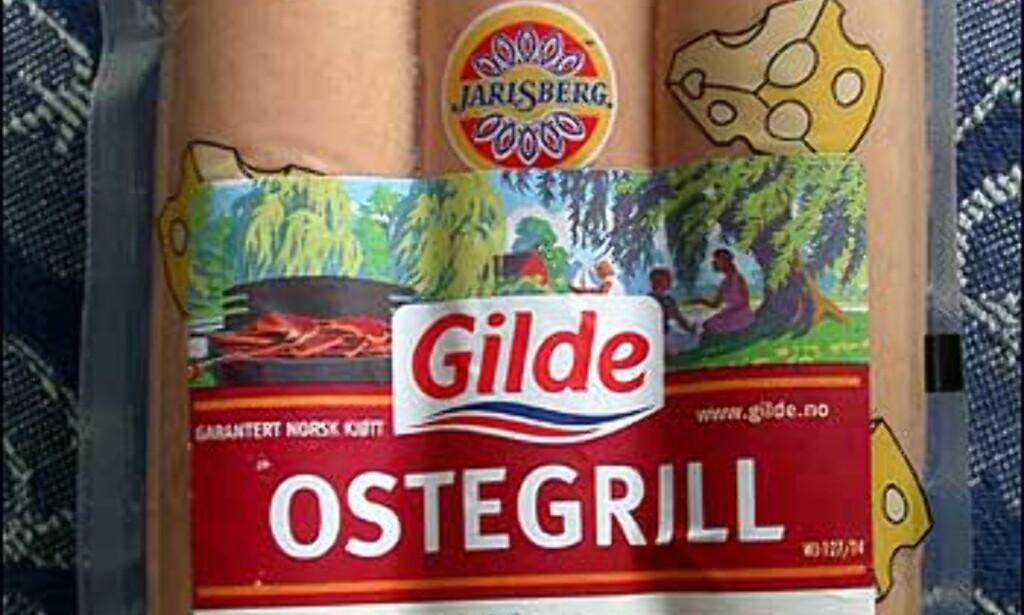 Gildes Ostegrill ender suverent sist. En merkelig kryddersmak og trist, grå farge lokket ingen positive ord ut av testpanelet.